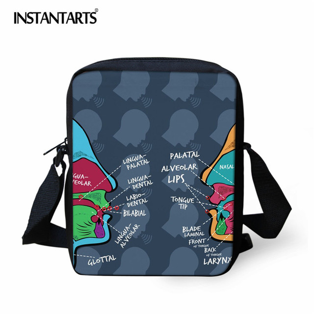 8dca8d756733 INSTANTARTS Speech Pathologist Pattern Fashion Small Crossbody Bags for Boys  Casual Man Mini Messenger Bag Girls School Bags Kid
