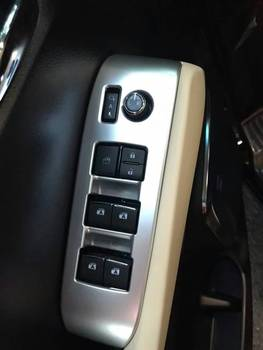 Window Switch panel trim Silver Chromed color car interior  accessories  for Vellfire Alphard 2015