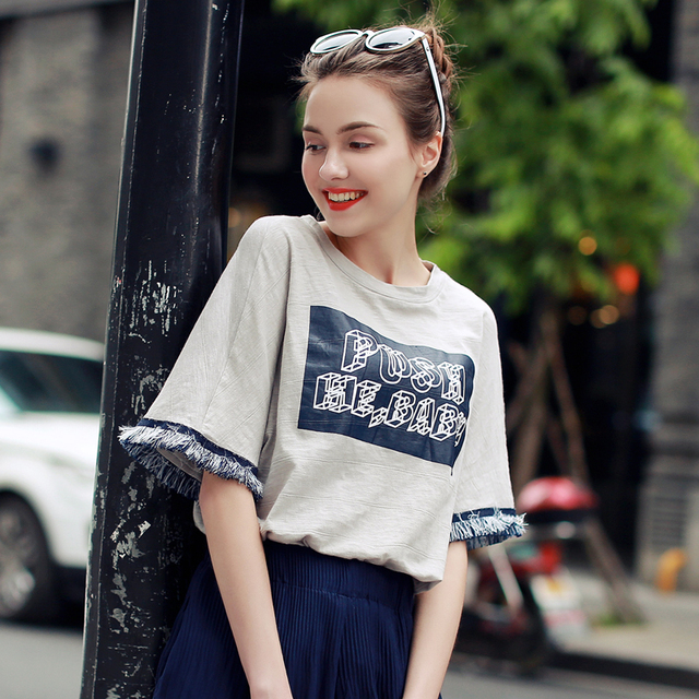 New Arrival Fashion Summer Women T-Shirt Short Sleeve Harajuku Loose Top Tees Plus Size Women T-Shirt