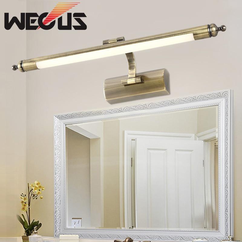 56cm american vintage bedroom makeup mirror light europe copper washroom wall lamp hotel preferred fitment lights