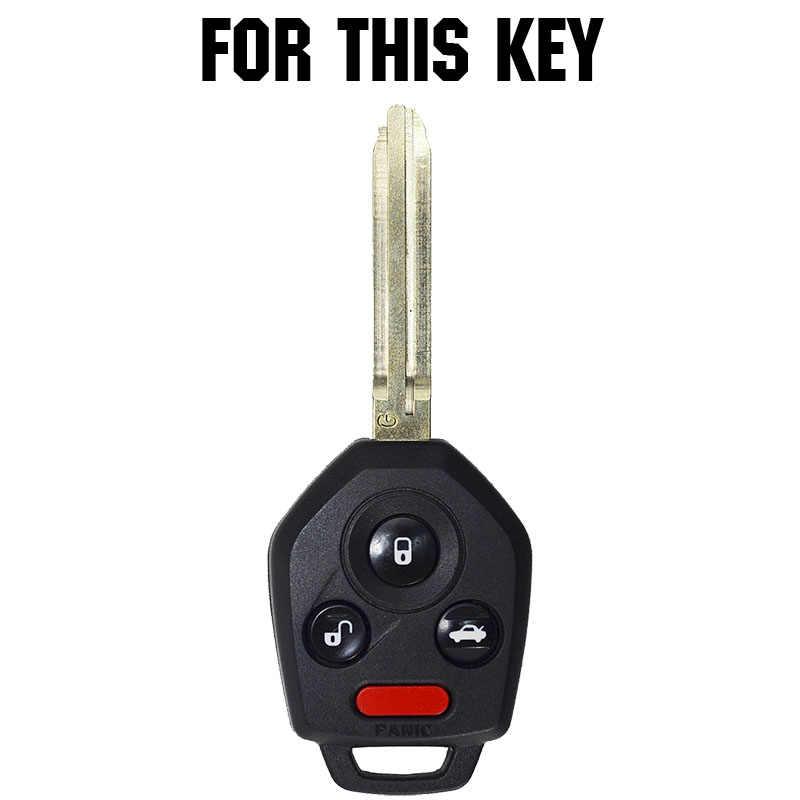 Coque de clé de voiture en Silicone pour Subaru Forester Impreza Legacy Outback STi WRX XV Crosstrek Tribeca coque de télécommande sans clé