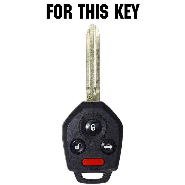 Funda de silicona para la llave del coche para Subaru Impreza Forester Outback Legacy Outback STi WRX XV Crosstrek Tribeca cubierta sin llave carcasa del mando a distancia