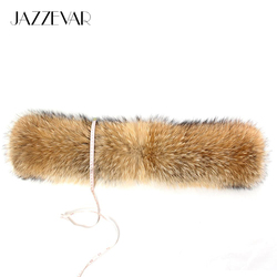 Large 100% real raccoon fur collar top quality size 88*22