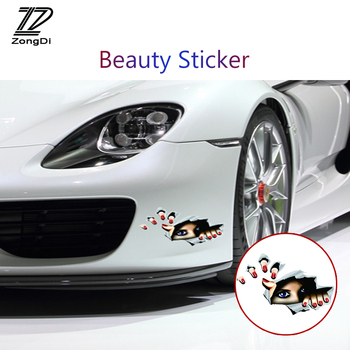ZD Auto Car-styling 3D Eyes Stickers For Mercedes W203 W204 BMW E39 E36 E90 F30 F10 Volvo XC60 XC90 Alfa Romeo Audi A6 c5 c6 image