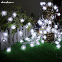 Feimefeiyou IP44 10M 100 Fairy LED Dandelion String Light Outdoor Waterproof Garland For Christmas Party Low