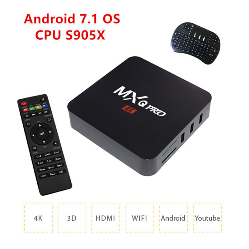 TV Box2017 New MXQ PRO KODI 17.3 Android 7.1 Amlogic S905X Quad Core 1GB8GB H.265 4K 1080i/P Smart Media Player MXQ PRO PK X96