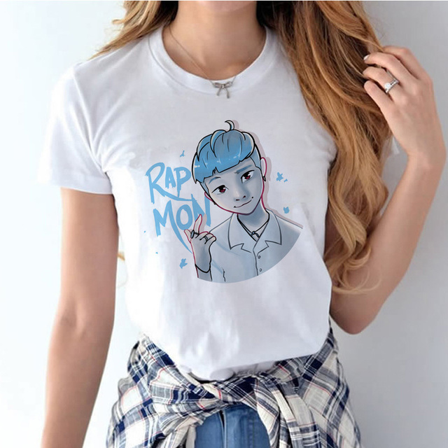 BTS Kawaii Graphic T-Shirt Tee ShortSleeve Summer