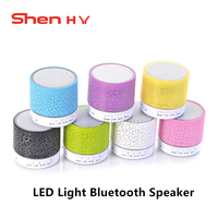 Wireless Bluetooth Speaker Colorful Led Light With Mic Portable TF USB Subwoofer Loudspeaker 3 5mm MP3