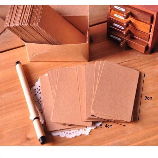 Kraft Paper Business Cards 100 pcs Set