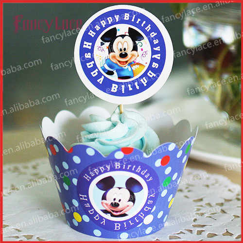 Cool Mickey Mouse Cupcake Wrappers Cake Decoration For Baby Birthday Personalised Birthday Cards Veneteletsinfo