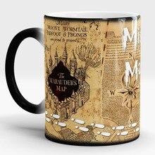 Hogwarts Tassen Marauders Map tassen unfug verwaltet becher Wärmeempfindlichen transforming tasse kaltes heißer wärme ändernde farbe tee tassen