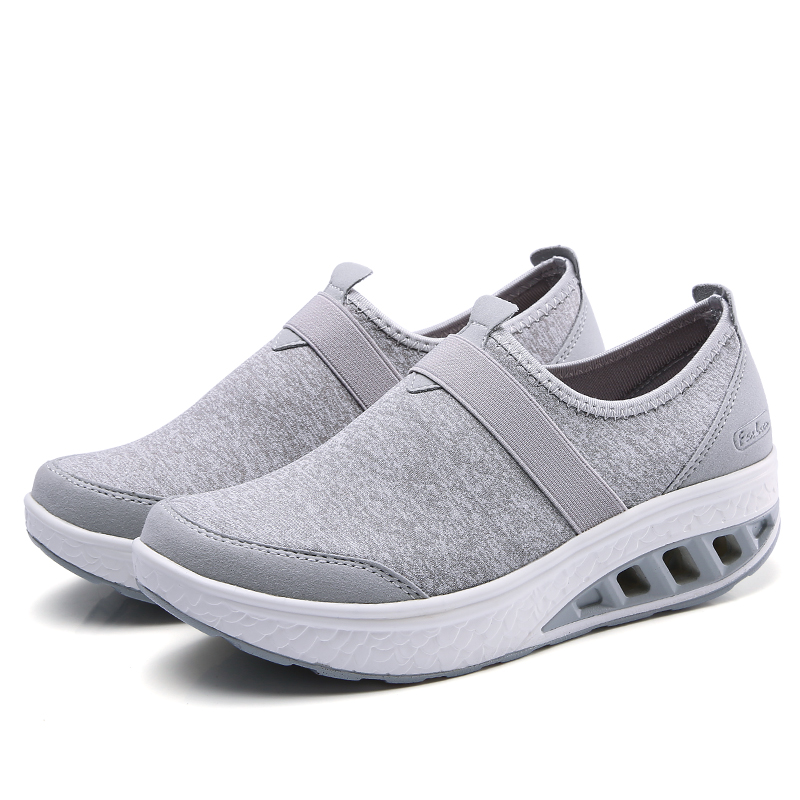 Femmes forme Creepers d Automne gray green l l Plat Sneakers Plate Sur blue Chaussures 2018 gray Foxondo Black l Casual Respirant Mesh Slip EAZqOpw