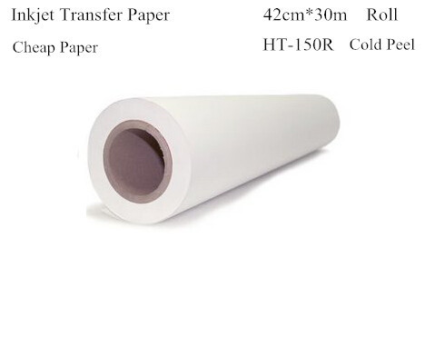 Inkjet Thermal Transfer Printing Paper Roll 42cm*30m Light Color Heat Transfers For Clothes Inkjet Transfer Cheap Paper HT-150R thermal cash register paper printing paper white 80mm