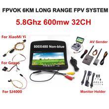 FPV Kit Combo Système Boscam 5.8 Ghz Vidéo Émetteur et Récepteur costume Pour SJ4000 XiaoMi Yi Sport Action Caméra Gopro 3 4