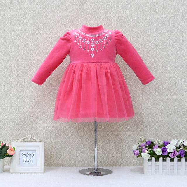 c7bfa701b9e4f 2019 جديد الأطفال فساتين ملابس أطفال للبنات الزفاف حزب القطيفة لينة اللباس  الملابس عيد الميلاد الرضع