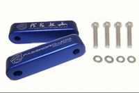 New Blue JDM Aluminum Hood Spacer Risers/Bonnet Riser Fender for Honda Civic 92-95EG/96-00EK