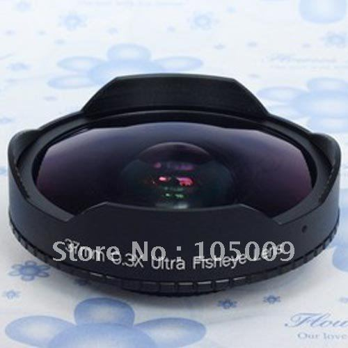 37mm 0.3X Ultra Fisheye Wide Fish Eye Lens For 37 Mm 0.3 Camcorders DV Sony HXR-MC1500C Camera