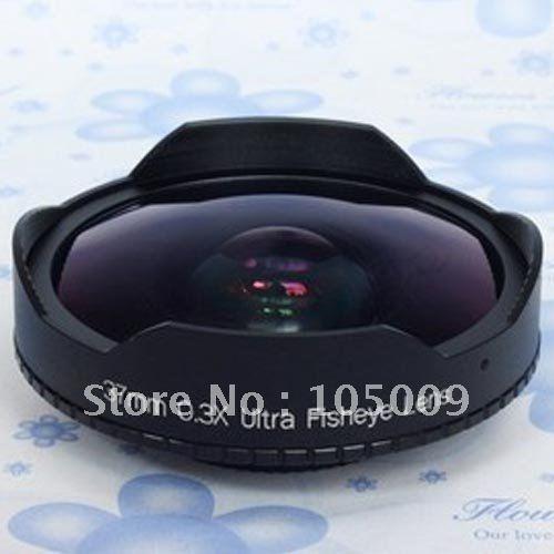 37mm 0.3x ultra olho de peixe grande lente olho peixe para 37mm 0.3 filmadoras dv sony HXR-MC1500C câmera