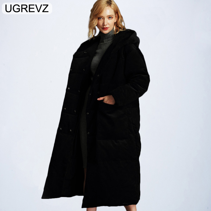 2019 Fashion Women's   Down   Jacket Winter Hooded Warm Long   Coat   Plus Size Female Duck   Down   Parkas for Women Large Clothes Overcoat