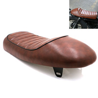 Motorcycle New Caterpillar Cushion for Honda CG125 Seat Universal Modified Package Sitting Vintage Saddle Hump Leather Cushion