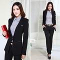 2016Korean style latest spring fashion women suit elegant long sleeve professional small suit Women slim size office suit D-0987