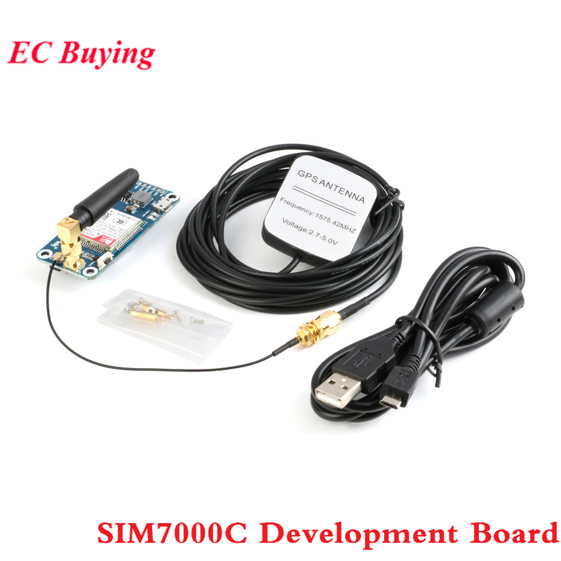 SIM7000C Module SIM7000C Development Board NB IoT/eMTC/EDGE/GPRS/GNSS/GPS 4G Communication Expansion Board for Raspberry Pi