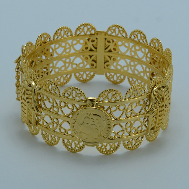 9a1ecea833402 US $9.56 |Anniyo 6.8CM Arab Coin Bangle Women,Big Bracelet Gold Color Hamsa  Hand Bangle Jewelry Middle East Style Hand of Fatima #004502-in Bangles ...