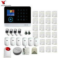 Yobang Security Russian Spanish French Italian Voice GSM Autodial House Office Burglar Intruder Alarm Android IOS APP Sensor