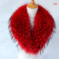 The real raccoon fur collar dyed fur collar men and women80cm*18cm