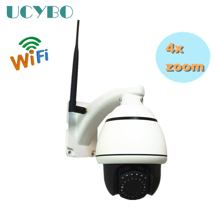wireless 1.3MP PTZ IP Camera 960P HD wifi 2.8-12mm mini speed dome pan tilt motorzied auto 4x zoom PTZ Network Outdoor ir ip cam 4 in 1 ir high speed dome camera ahd tvi cvi cvbs 1080p output ir night vision 150m ptz dome camera with wiper