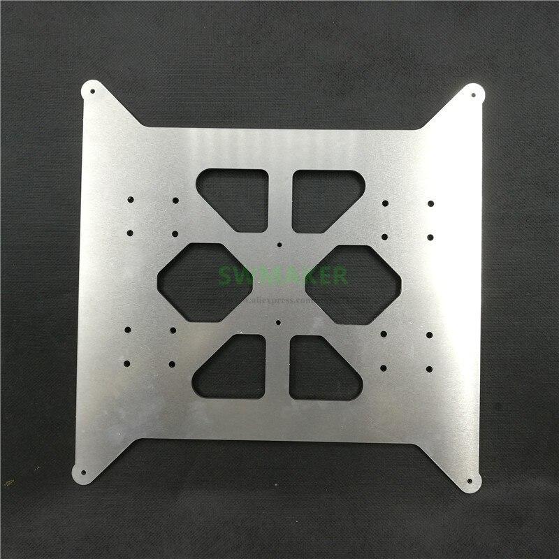 Bilgisayar ve Ofis'ten 3D Yazıcı Parçaları ve Aksesuarları'de FLSUN Prusa i3 yükseltme alüminyum Y arabası isıtmalı yatak taban plakası 3mm kalın