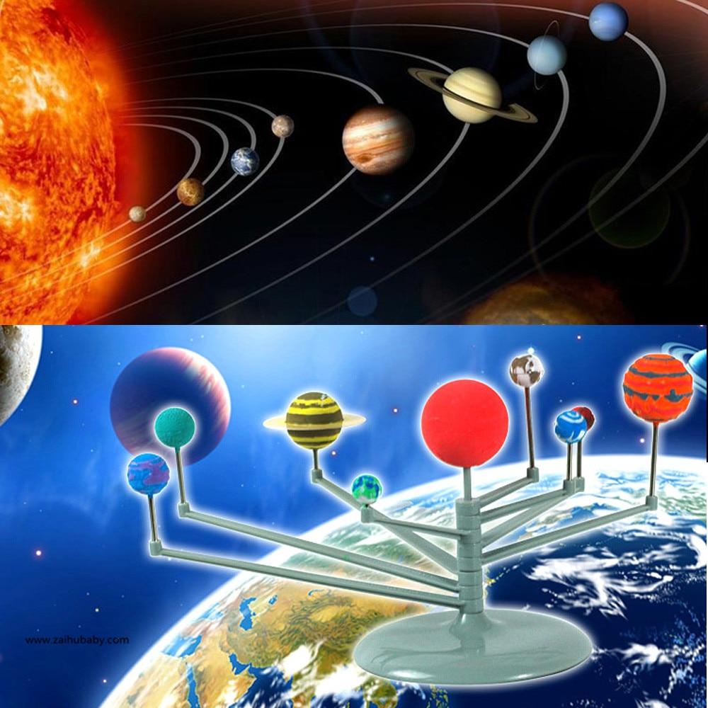 Kid Fun Toy Gift DIY Simulation Solar System Planetarium Painting Model Kit Childrens Educational Teaching Toys