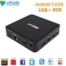 Vmade V96S Tv box Android 7,0 Allwinner H3 Quad core 1G + 8G 4K Smart Tv box compatible con IPTV Youtube WIFI caja de medios Set Top Box