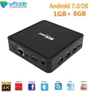 Image 1 - Vmade V96S Tv box Android 7.0 Allwinner H3 Quad core 1G + 8G 4K smart tv box unterstützung IPTV Youtube WIFI media box Set Top Box