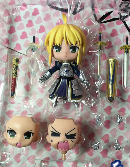 Cute 10cm 4 Nendoroid Fate Stay Night - Saber Lily Boxed PVC Action Figure Collection Model Toy Gift #121 huong anime fate stay night fate 24cm saber lili battle ver pvc action figure collectible toy model briquedos christmas gift