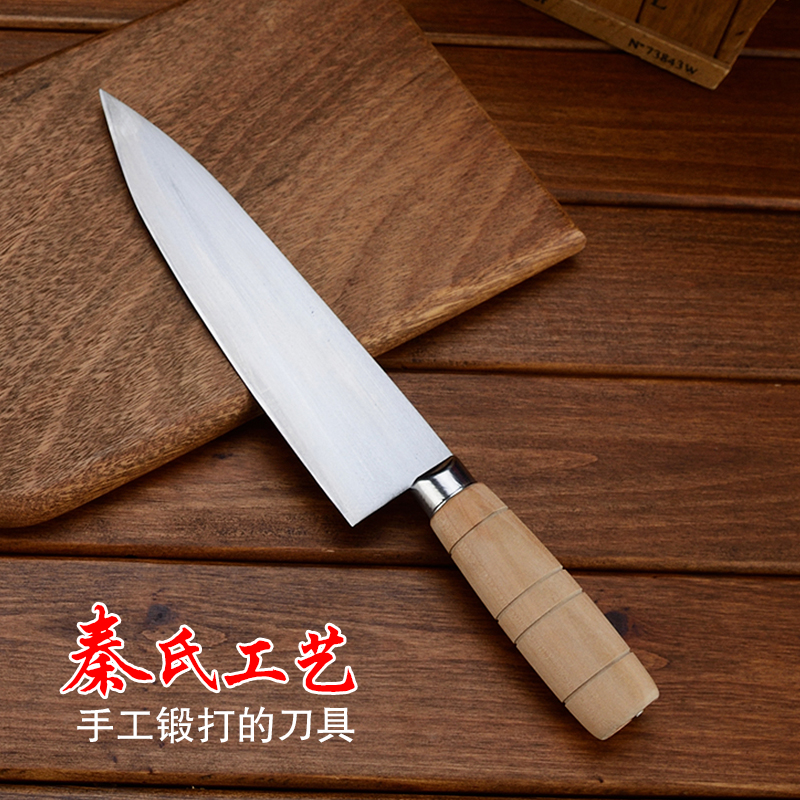 Free Shipping QinS Professional Forged Kitchen Slicing Meat Vegetable Cuisine Knife Handmade Chef Split Bone Knife