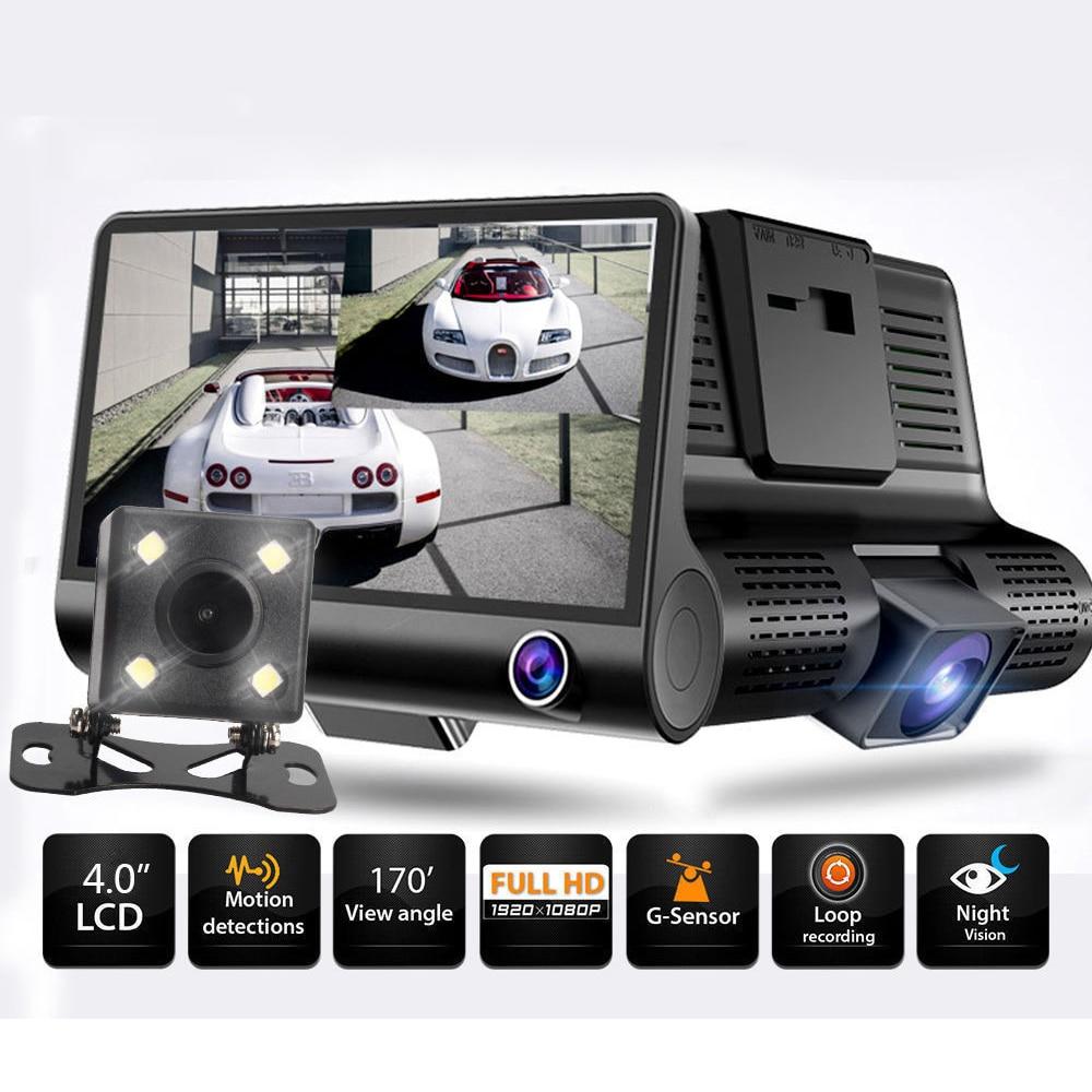 Video-Recorder Car-Dvr-Camera Lcd-Screen G-Sensor-Loop Rearview Dual-Lens Night-Vision