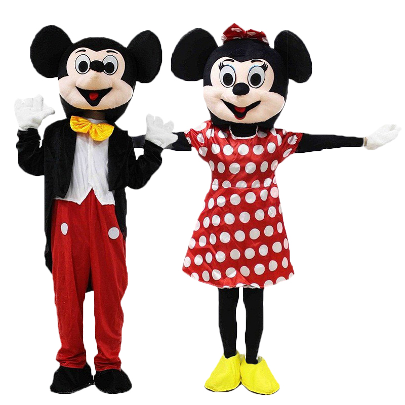 2019 New Adult Cosplay Suits Mickey Mascot Costume Customize Cartoon Character Cosplay Carnival Costume Fancy Dress Mascot