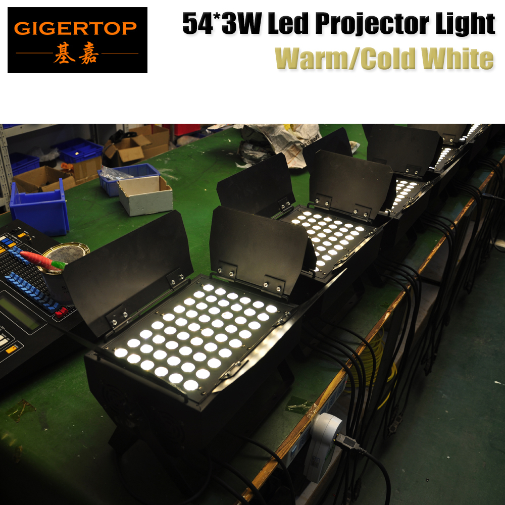 Discount Price 10 Unit TP-W5403C Warm White 54x3W True Power Flood Track Fixture With Barndoor 110V-220V DMX Control Lighting