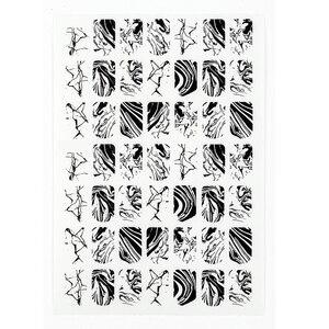 Image 3 - Folha de Mármore De Água Etiqueta Do Prego do Respingo de Tinta Preta 1 3D Adesivo Decalques Completa Wraps Prego Da Arte Do Prego Adesivos Mármore Branco decorações