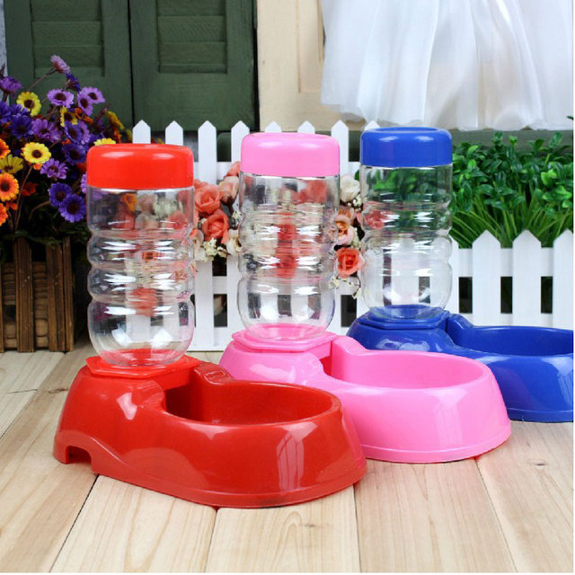 big ear Hot Sale Free Shipping Dog Automatic Water Dispenser Feeder Utensils Bowl Cat Drinking Fountain Food Dish Pet Bowl