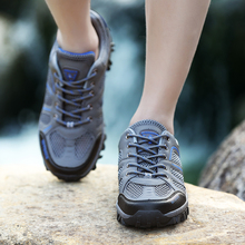 New Hiking Shoes Man Sandals Summer Mesh Breathable Anti-skid Outdoor Sneakers Athletic Sport Shoes Male Camping Trekking Shoes цена 2017