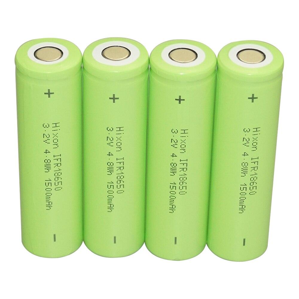 4 pcs IFR18650 LiFePO4 3.2V 1500mAh bateria recarregável com certificação UL und DAS NAÇÕES UNIDAS
