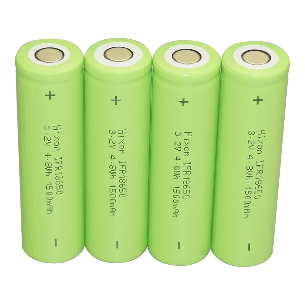 <font><b>4</b></font> <font><b>pcs</b></font> IFR18650 LiFePO4 3.2V 1500mAh rechargeable <font><b>battery</b></font> with UN und UL certification image