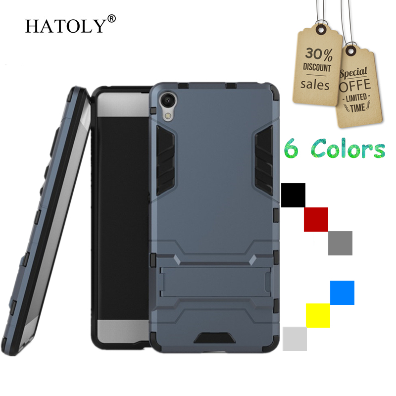 For Sony Xperia XA Case F3111 F3113 F3115 Shockproof Robot Armor Slim Hybrid Rugged Silicone Hard