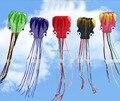 Sólo 9.9 $ envío de la alta calidad 6 m cometa pulpo suave con la línea de mango diversos colores eligen weifang kite cometa grande al aire libre tartán
