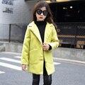 3 4 5 6 7 8 9 10 11 12 13 14 Anos Adolescentes Meninas Blusão Jaqueta crianças Outono Inverno Quente Meninas Casaco de Inverno Crianças Adolescentes
