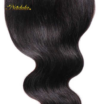 Nadula Hair 5*5 Body Wave Lace Closure Free Part Remy Human Hair Natural Color Brazilian Hair Closure With Baby Hair