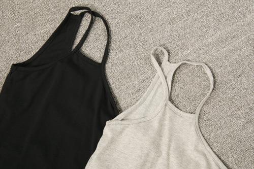 Fashion asymmetrical smilehotel irregular small vest design long tank dress