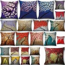 Cushion Pillowcase Car-Waist-Cushion-Cover Baby Cotton PP29 Paint-Flowers 3D